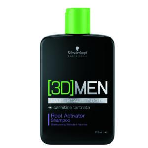 Schwarzkopf 3D Men Root Activator – Shampoo Ativador de Raizes 250 ml