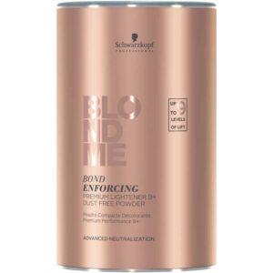 Schwarzkopf BlondMe Premium Blond enforcing Premium Lightener 9+ – Pó Descolorante 450 g