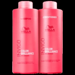 Kit Wella Invigo Color Brilliance Shampoo 1L + Condicionador 1L