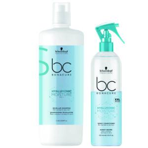 Schwarzkopf BC Moisture Kick Kit shampoo 1000ml + condicionador spray 400ml
