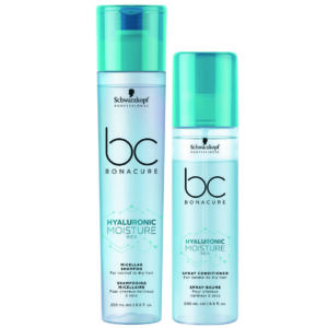 Schwarzkopf BC Moisture Kick Kit Shampoo 250ml + Condicionador Spray 200ml
