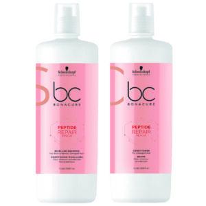 Schwarzkopf BC Repair Rescue Kit Shampoo 1000ml + Condicionador 1000ml