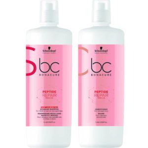 Schwarzkopf BC Repair Rescue Kit Shampoo Nutrição Profunda 1000ml + Condicionador 1000ml