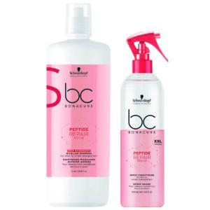 Schwarzkopf BC Repair Rescue Kit Shampoo Nutrição Profunda 1000ml + Condicionador Spray 400ml